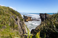 Punakaiki pancake rocks in New Zealand