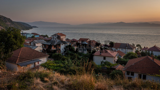 Sunset view over Radozhda on Lake Ohrid, Macedonia