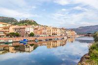 Colorful Bosa, Sardinia island, Italy