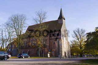 Gotische Pfarrkirche in Zarrentin am Schaalsee, Mecklenburg-Vorpommern, Deutschland