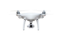 Unmanned Aircraft System Quadcopter Drone Isolated on White