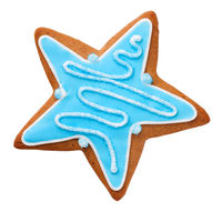 Gingerbread Cookie In Shape Of Star