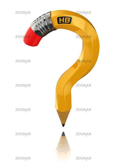 Pencil as question symbol