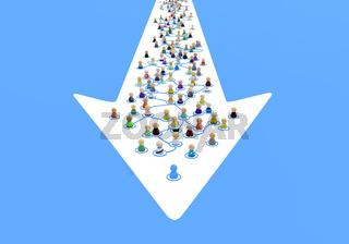 Cartoon Crowd System, Pointer Inside