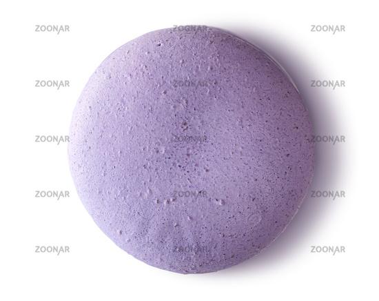 One purple macaroon top view