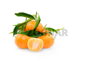 Clementine on white background