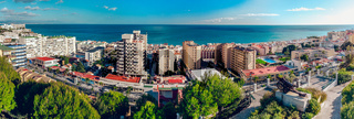 Beautiful view of Torremolinos coast. Malaga, Spain