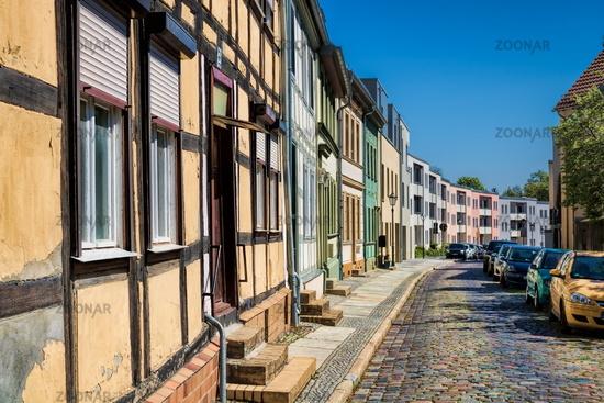 Bernau near Berlin, Germany - 04/30/2019 - old and new buildings