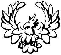 Eagle Cartoon Emblem Line Drawing