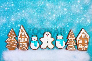 Christmas ginger cookies.