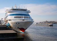 Cruise ship AIDA CARA, Antwerp, Belgium