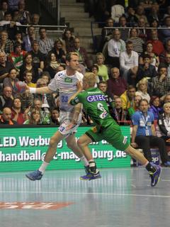 DKB Handball-Bundesliga 2013/14 29.Spieltag,SC Magdeburg-HSV Handball in Magdeburg