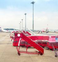 Kuala Lumpur airport, planes, equipment