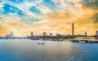 Cairo downtown at sunset