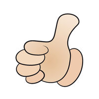 Vector of a hand with the thumb up