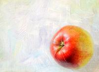 Ripe apple fruit closeup on a grunge background -