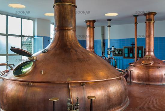 Vintage copper kettle - brewery in Belgium