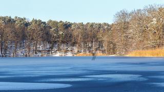 Winter Lake Landscape
