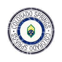 City of Colorado Springs, Colorado vector stamp