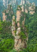 Stone pillars of Tianzi mountains in Zhangjiajie