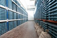 gold rock core drill samples storage