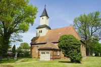Village church Staffelde, Oberhavel, Brandenburg, Germany