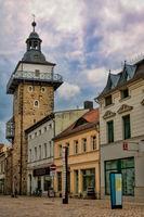 Schönebeck, Germany - June 20, 2020 - old salt gate with tower