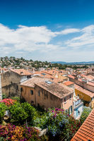 Panorama on the old town Hyères