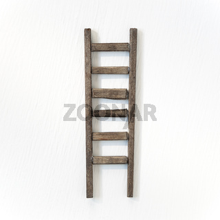 Wooden ladder isolated on white background