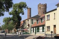 The Stendal street in Tangermuende in Germany