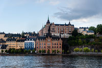 Waterfront view Ugglan quarter in Stockholm, Sweden