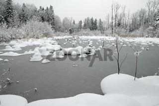 Saalachau im Winter