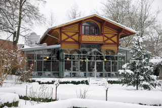 Holzhaus, Wintergarten, Schnee, Wooden house