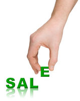 Hand and word Sale