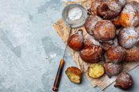 Homemade French doughnuts.