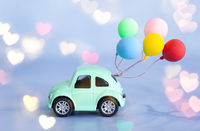 Little car with ballons