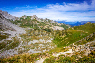 Mountain landscape in French alps