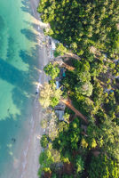 Amazing aerial view of tropical beach from drone