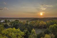 sunset ove  Nebraska Sandhills