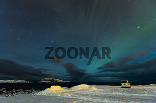 Polarlicht (Aurora borealis) in Finnland nahe Inari