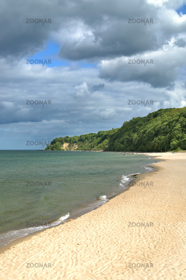Beach of Goehren at baltic Sea,Ruegen,Mecklenburg-Vorpommern,Germany