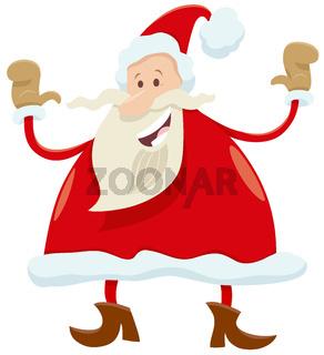 happy Santa Claus cartoon character on Christmas time