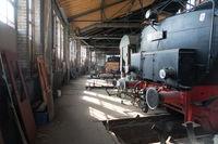 Workshop for the restoration of steam locomotives