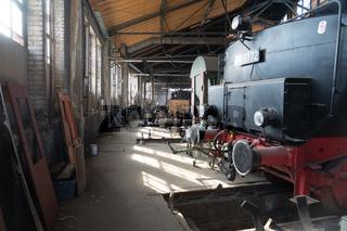 Werkstatt zur Restauration von Dampfloks