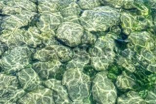 Wasseroberfläche mit glitschigem Untergrund