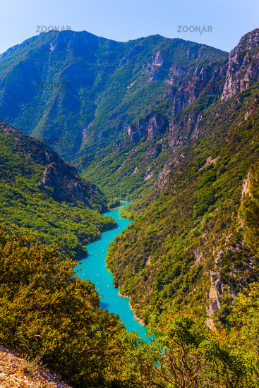 Majestic mountain gorge Verdon