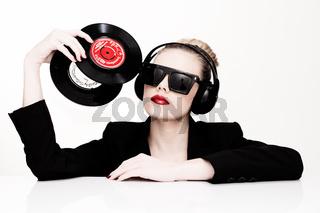 Beautiful sensual disc jockey
