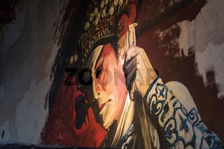 Die berühmte Straßenkunst von George Town, Penang