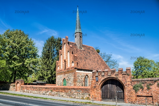 BBernau near Berlin, Germany - April 30th, 2019 - historic Feldstein Church the St. georg