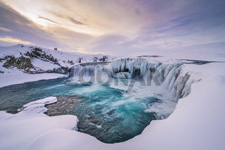 Iceland Godafoss Winter